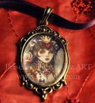 Queen of Hearts fantasy goth cameo
